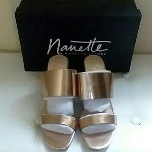 NANETTE LEPORE SANDALS, SIZE 8-1/2